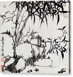 Leaf I Acrylic Print by Rang Tiang