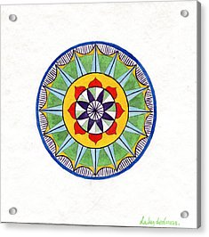 Leaf Mandala Acrylic Print by Silvia Justo Fernandez