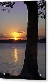 Leake Avenue Mississippi River Sunset Acrylic Print by Ray Devlin