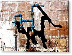 Acrylic Print featuring the photograph Leaky Faucet II by Christiane Hellner-OBrien