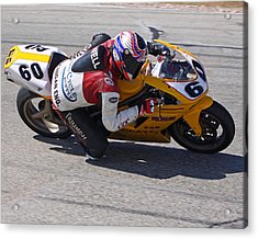 Acrylic Print featuring the pyrography Leaning Into Speed by Shoal Hollingsworth