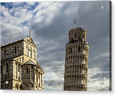 Leaning Tower And Duomo Di Pisa Acrylic Print