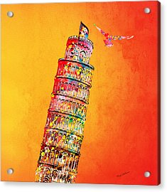 Leaning Tower Acrylic Print by Mark Ashkenazi