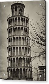 Acrylic Print featuring the photograph Leaning Tower by Miguel Winterpacht