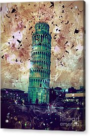 Leaning Tower Of Pisa 1 Acrylic Print
