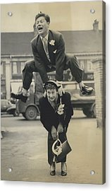 Leap- Year Day Wedding In London. The Acrobatic Groom Acrylic Print by Retro Images Archive