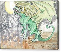 Leaping Dragon Acrylic Print