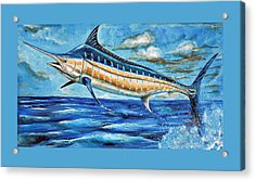 Leaping Marlin Acrylic Print