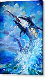 Leaping Marlin Acrylic Print