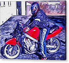 Learn How To Ride Acrylic Print