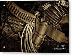Leather And Lead Acrylic Print