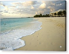 Leave Only Footprints In The Sand Acrylic Print