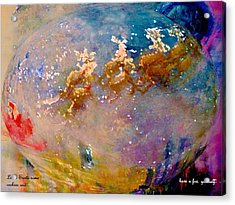 Acrylic Print featuring the painting Leave Some Cookies For Santa by Lisa Kaiser
