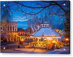Leavenworth Gazebo Acrylic Print by Inge Johnsson