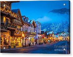 Leavenworth Skyline Acrylic Print by Inge Johnsson