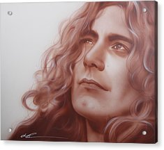 Robert Plant - ' Leaves Are Falling All Around ' Acrylic Print by Christian Chapman Art