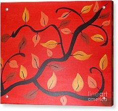 Leaves Acrylic Print by Krystal Jost
