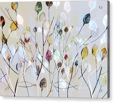 Acrylic Print featuring the digital art Leaves Of Color by Nina Bradica