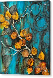 Leaves Of Gold Acrylic Print
