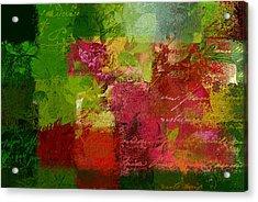 Leaves Rhapsody - 070097100c Acrylic Print