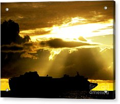 Acrylic Print featuring the photograph Leaving Kona by David Lawson