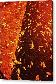 Leaving Past Acrylic Print by Atinderpal Singh