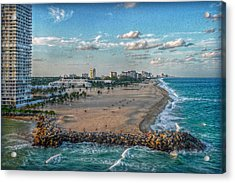 Leaving Port Everglades Acrylic Print by Hanny Heim