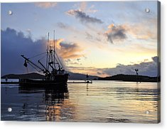 Acrylic Print featuring the photograph Leaving Safe Harbor by Cathy Mahnke