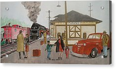 Leaving Sardinia 1944 Acrylic Print
