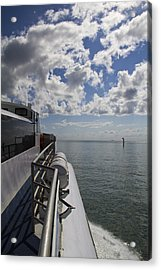 Acrylic Print featuring the photograph Leaving The Channel by Debbie Cundy