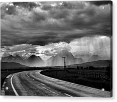 Leaving The Tetons Acrylic Print by Steven Ainsworth