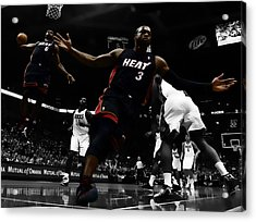 Lebron And D Wade Showtime Acrylic Print by Brian Reaves