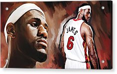 Lebron James Artwork 2 Acrylic Print