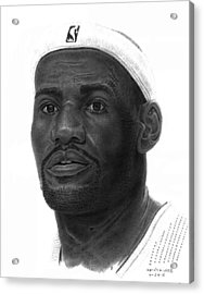 Lebron James Acrylic Print by Marvin Lee