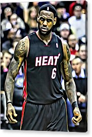 Lebron James Portrait Acrylic Print