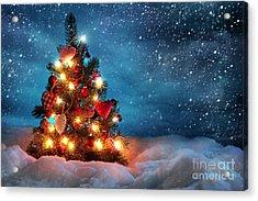Led Christmas Lights Acrylic Print by Boon Mee
