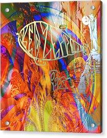 Led Shred Acrylic Print