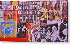 Led Zeppelin  Collage Number Two Acrylic Print by Donna Wilson