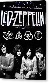 Led Zeppelin Acrylic Print by FHT Designs