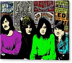Led Zeppelin Acrylic Print by GR Cotler