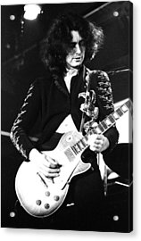 Led Zeppelin Jimmy Page 1972 Acrylic Print by Chris Walter