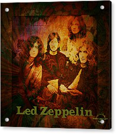 Led Zeppelin - Kashmir Acrylic Print by Absinthe Art By Michelle LeAnn Scott