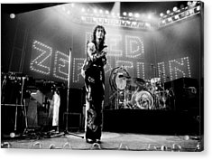 Led Zeppelin Lights 1975 Acrylic Print by Chris Walter