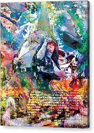 Led Zeppelin Original Painting Print  Acrylic Print