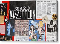 Led Zeppelin Past Times Acrylic Print by Donna Wilson