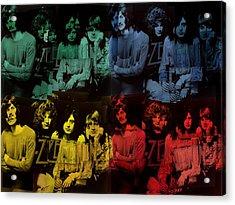 Led Zeppelin Pop Art Collage Acrylic Print