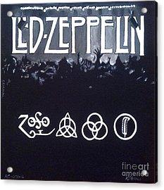 Led Zeppelin Acrylic Print by Richard John Holden RA