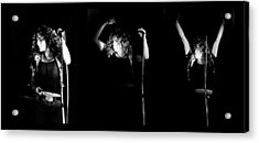 Led Zeppelin Robert Plant Triptych Acrylic Print by Chris Walter