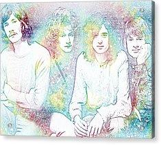 Led Zeppelin Tie Dye Acrylic Print