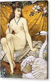 Leda And The Swan Acrylic Print